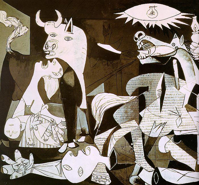 picassos guernica and uccellos battle of In chronicles of war multiple panels are assembled like renaissance altarpieces   ranging from uccello's battle of san romano and picasso's guernica, to war.
